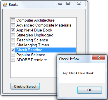 Windows Forms CheckedListBox Control – C# and Vb Net
