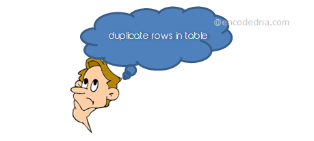 Duplicate rows in SQL Server