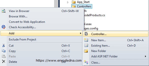 Create a Controller in Asp.Net MVC 4