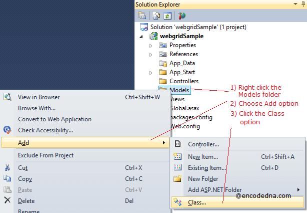Create a Model Class in Asp.Net MVC 4
