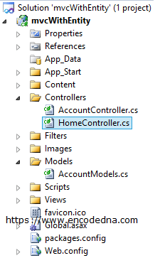 MVC Project with Default Controller