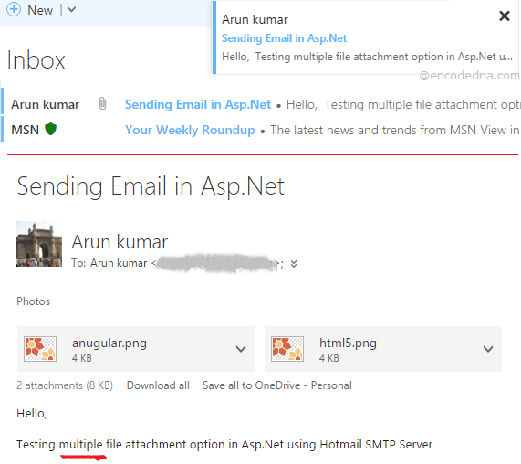 How to Send Emails with Multiple Attachments in Asp Net C#