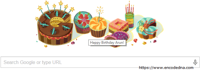 Special Birthday Doodle from Google – Google Wishes You