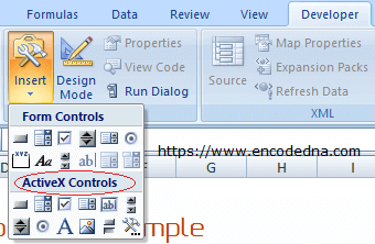 ActiveX Controls in Excel