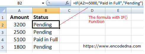 How to use IF() Function in Excel