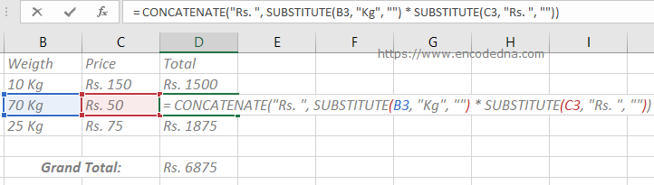 Calculate cells with Alphanumeric values in Excel
