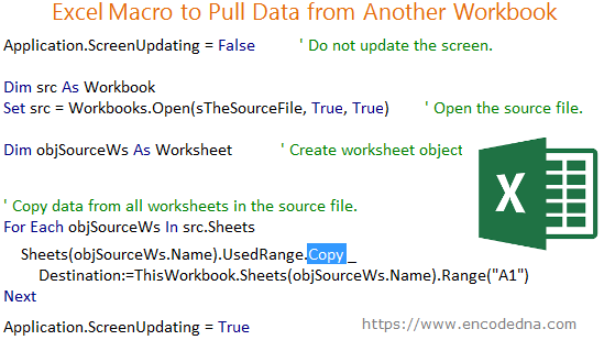 Excel Macro to Pull data from Another Workbook