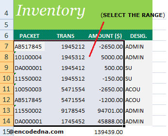 Select a Range to Find Duplicate in Excel