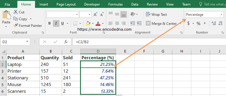 Format cell using Percentage in Excel