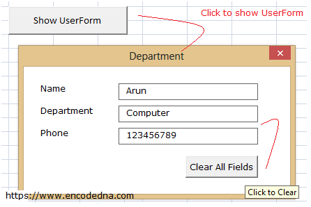 Loop through textboxes in UserForm in Excel VBA and clear all values