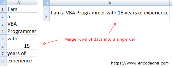 A Simple VBA Marco to Merge and Combine Cells in Excel