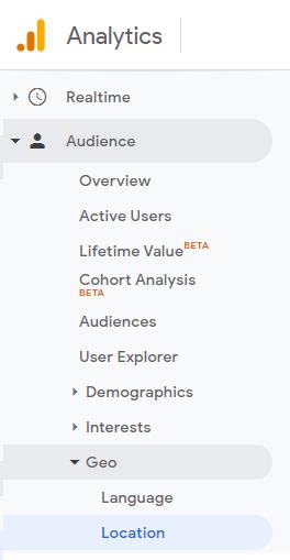 Geo location report in Google Analytics