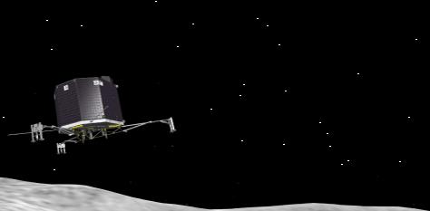 Philae Lander Animation on HTML5 canvas and JavaScript