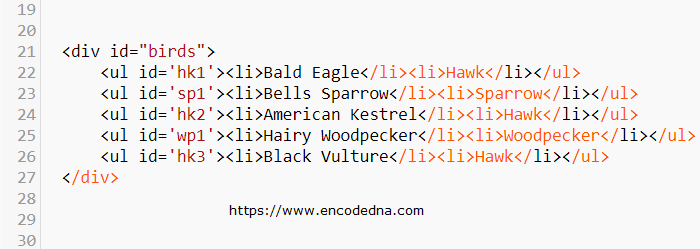 Get all elements in a DIV with specific text as ID using JavaScript