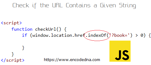 Check if the URL Bar Contains a Specified or Given String in