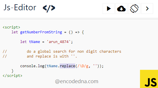 Get Numbers from String using Regular Expression and JavaScript